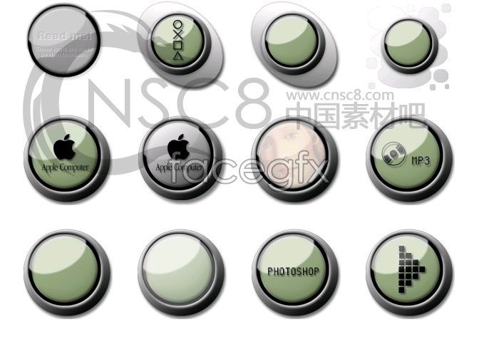 Button Crystal system icons 2