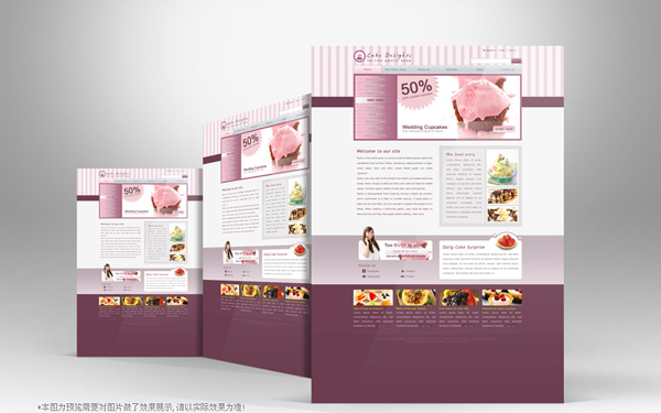 Cake theme page templates