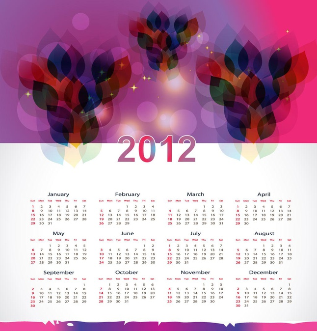 Calendar Layout Template vector free