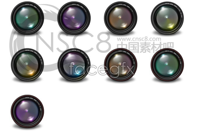 Camera lens desktop icons