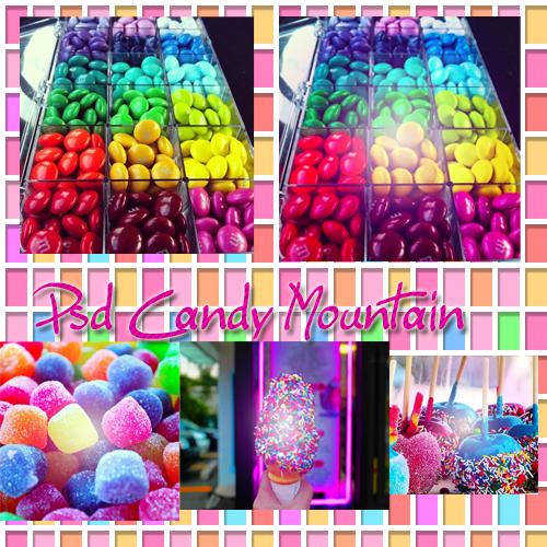 Candy Mountain Psd