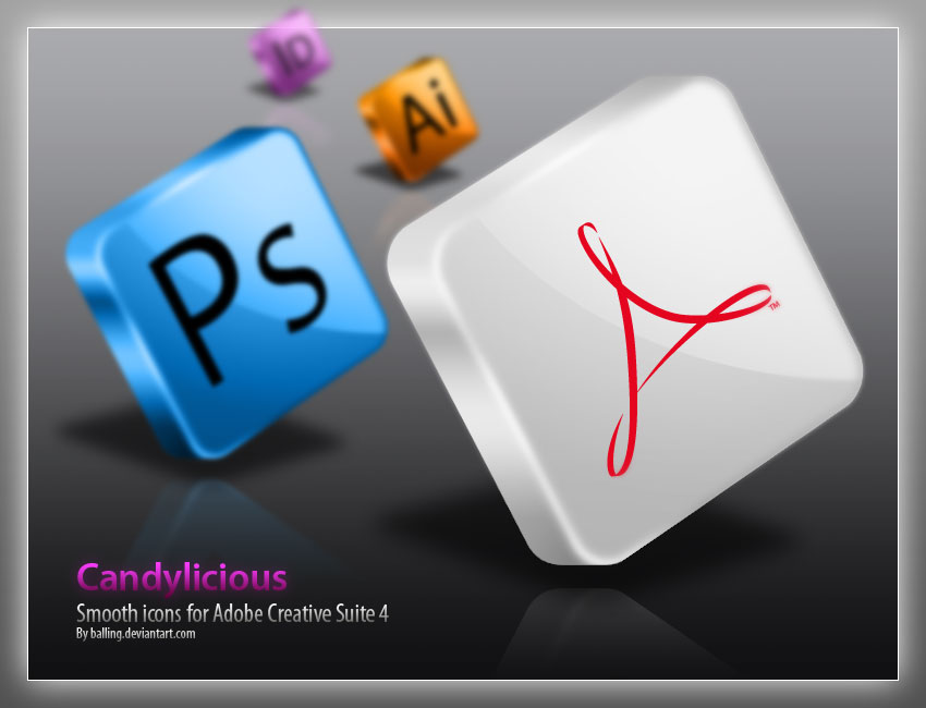 Candylicious Adobe CS4 icons