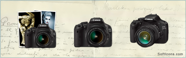 Canon 550D Icons
