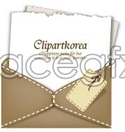 Card envelope vector