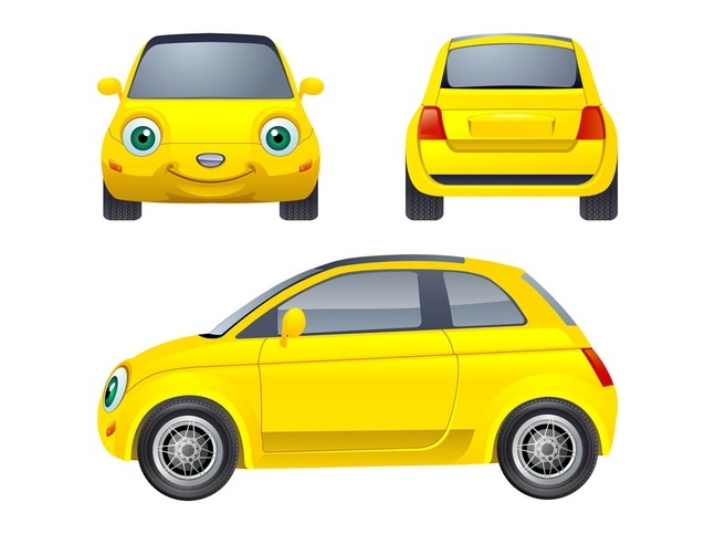 Cartoon Car Character Vector Free Over Millions Vectors Stock