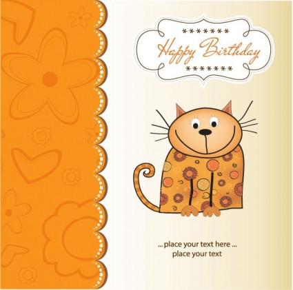 cartoon cat 04 vector