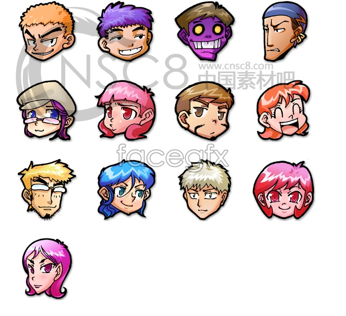 Cartoon characters desktop icons