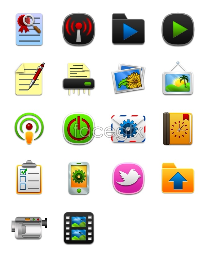 Cartoon designed computer icons