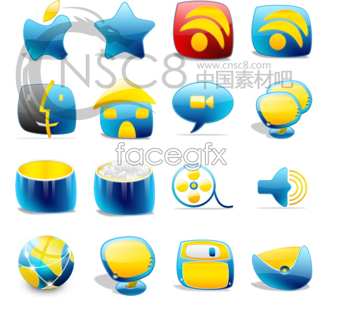 Cartoon designed desktop icons