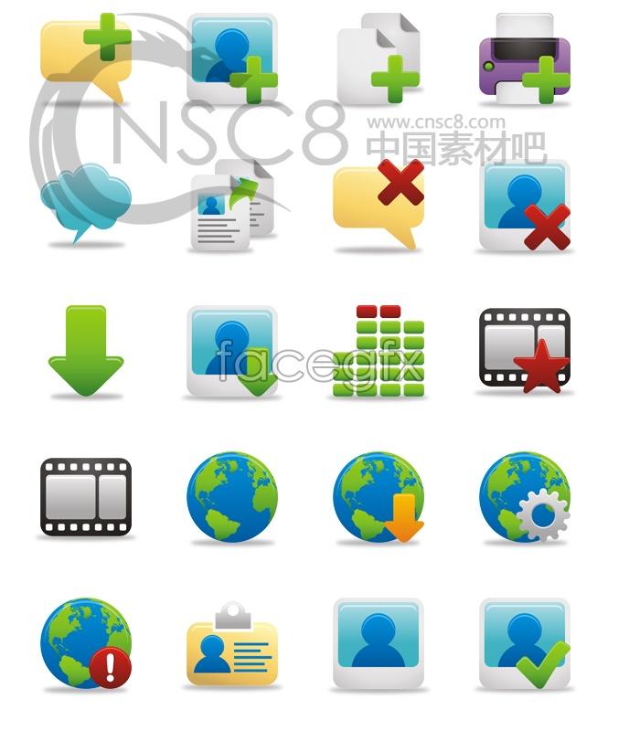 Cartoon desktop icons VISTA