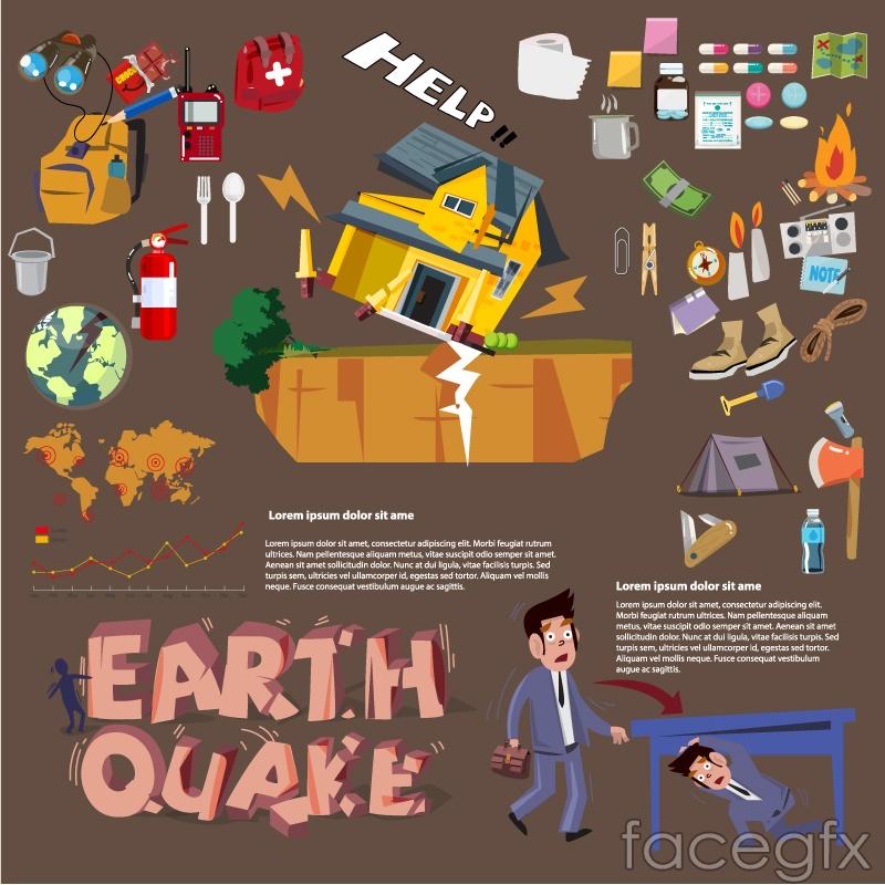Cartoon earthquake prevention information map vector over millions cartoon earthquake prevention information map vector toneelgroepblik Gallery