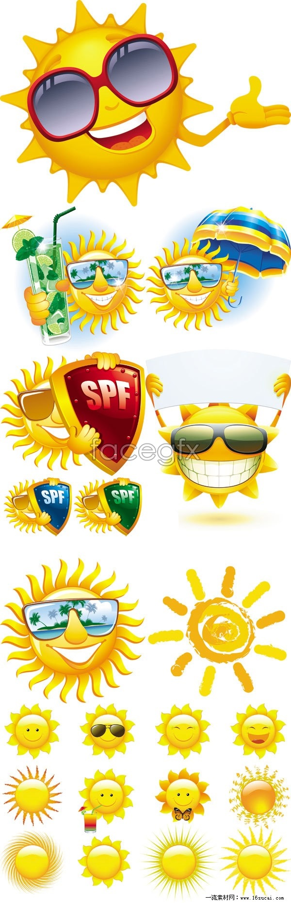 Cartoon Images Of The Sun Vector Art Pack Over Millions