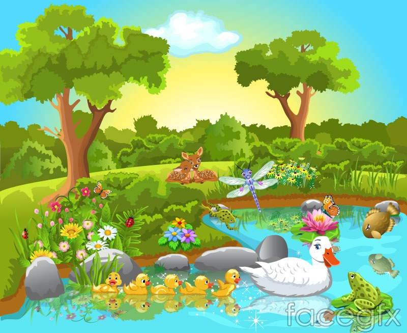 Cartoon jungle animals vector illustration over millions vectors cartoon jungle animals vector illustration toneelgroepblik Choice Image