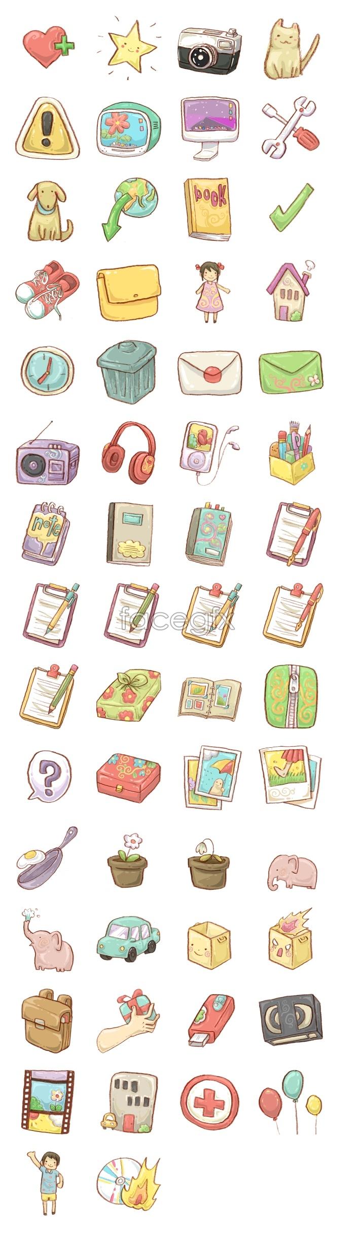 Cartoon life tools icon