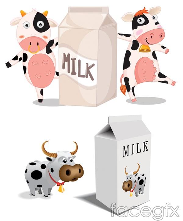 Cartoon milk carton with cow vector over millions vectors stock cartoon milk carton with cow vector toneelgroepblik Choice Image