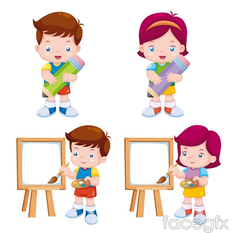 Cartoon painting children design vector over millions vectors cartoon painting children design vector free download toneelgroepblik Choice Image