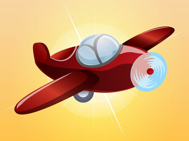 Cartoon Plane vector free