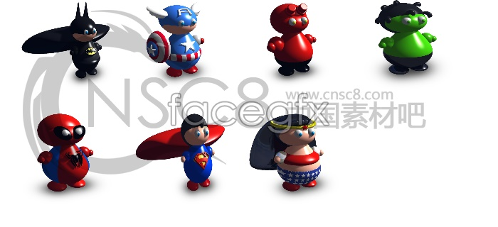 Cartoon toys icons