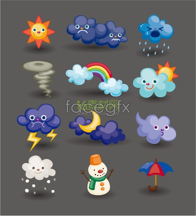Cartoon weather icon vector over millions vectors stock photos cartoon weather icon vector toneelgroepblik Images