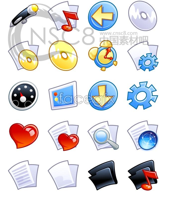 Cartoon XP system icons