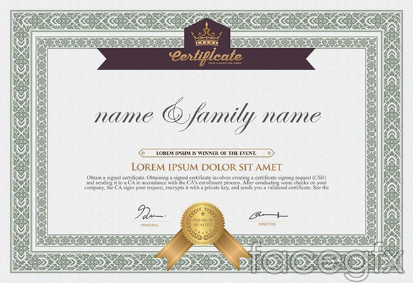 Certificate Of Authenticity Vector  Over Millions Vectors Stock