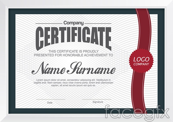 Certificate Template Design Vector  Over Millions Vectors Stock