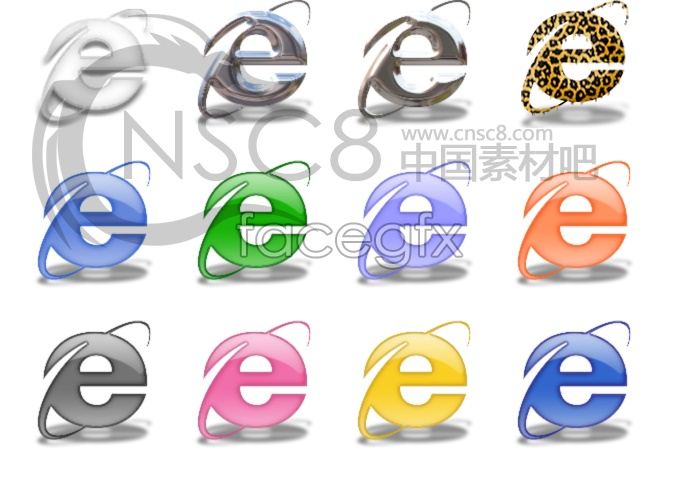 Characteristic design line IE icon