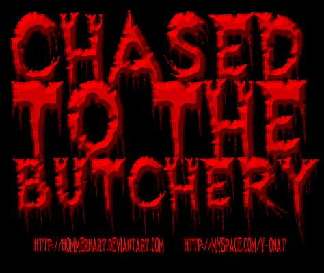 Chased To The Butchery – Band Logo [w/ PSD File]