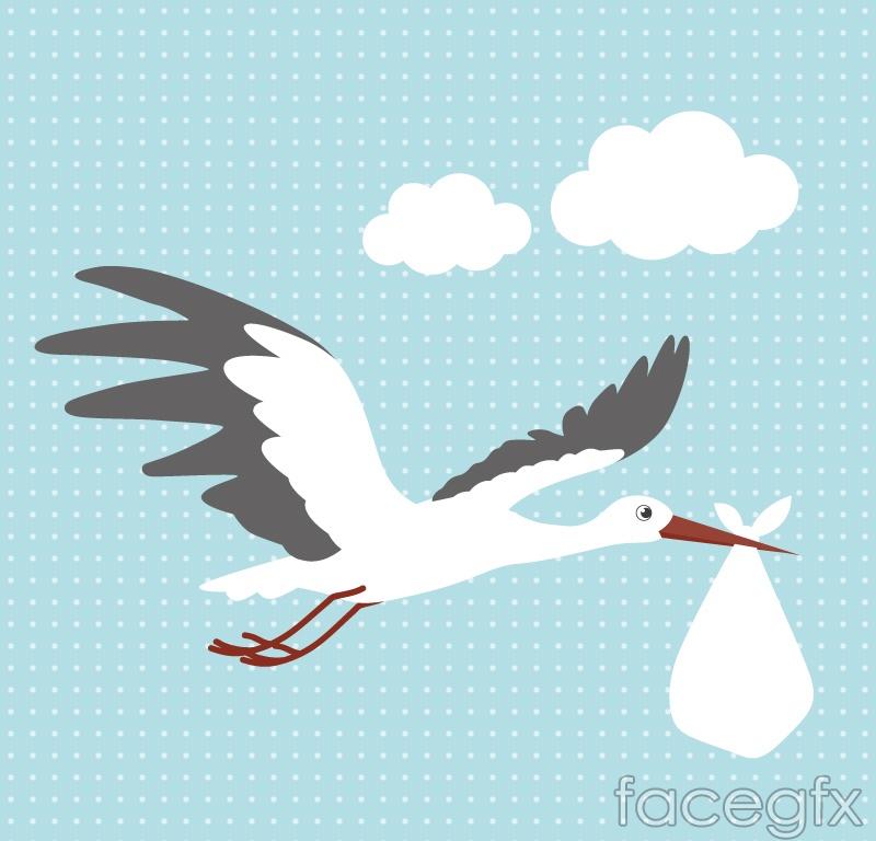 Child cartoon fly crane vector
