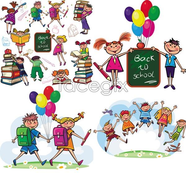 children cartoon vector download direct - Free Download Cartoon For Children