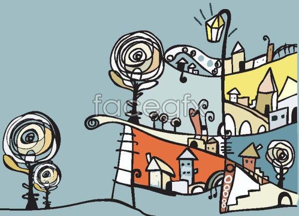Children's illustration 02 vector