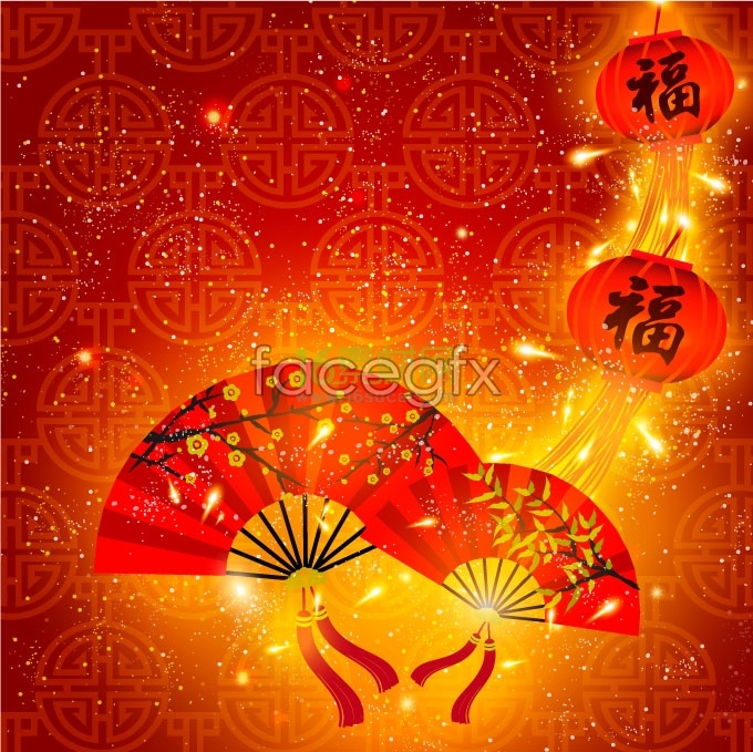chinese new year festive element vector