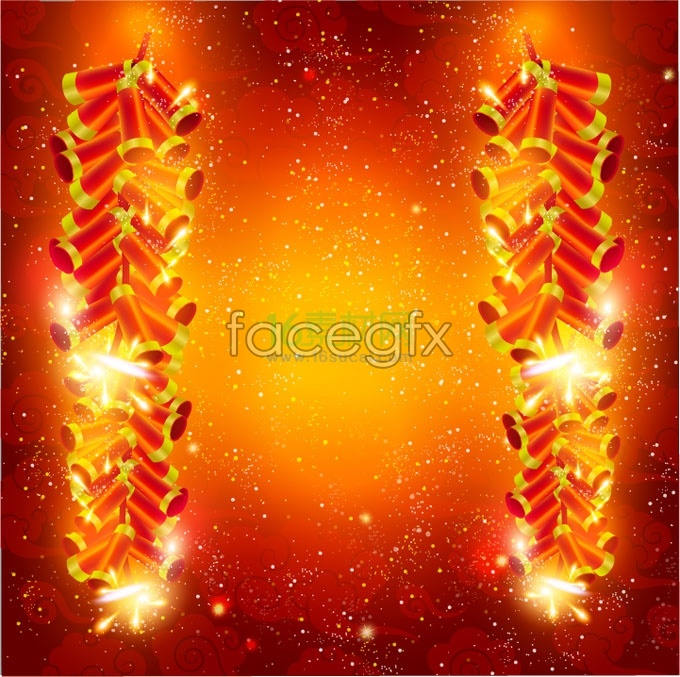 Chinese New Year Fireworks Vector Over Millions Vectors