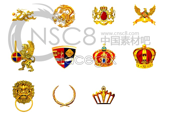 Chinese style Crown icons