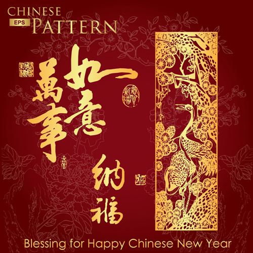 Chinese style pattern vector Free Vector / 4Vector