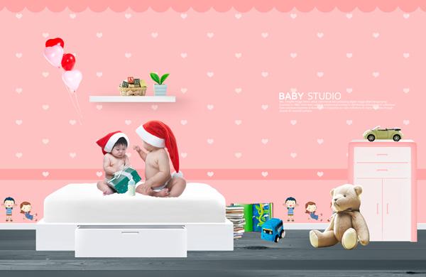 Christmas Baby wallpaper PSD
