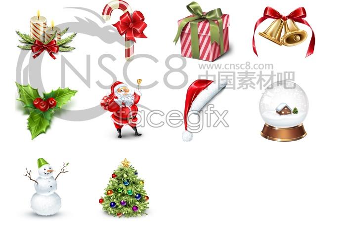 Christmas computer desktop icons