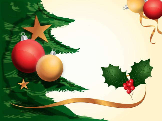 Christmas decorations background vector free over for 3d christmas decoration templates