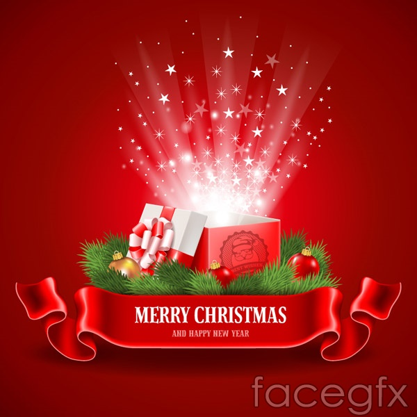 Christmas Open Lid Gift Boxes Vector Free Download