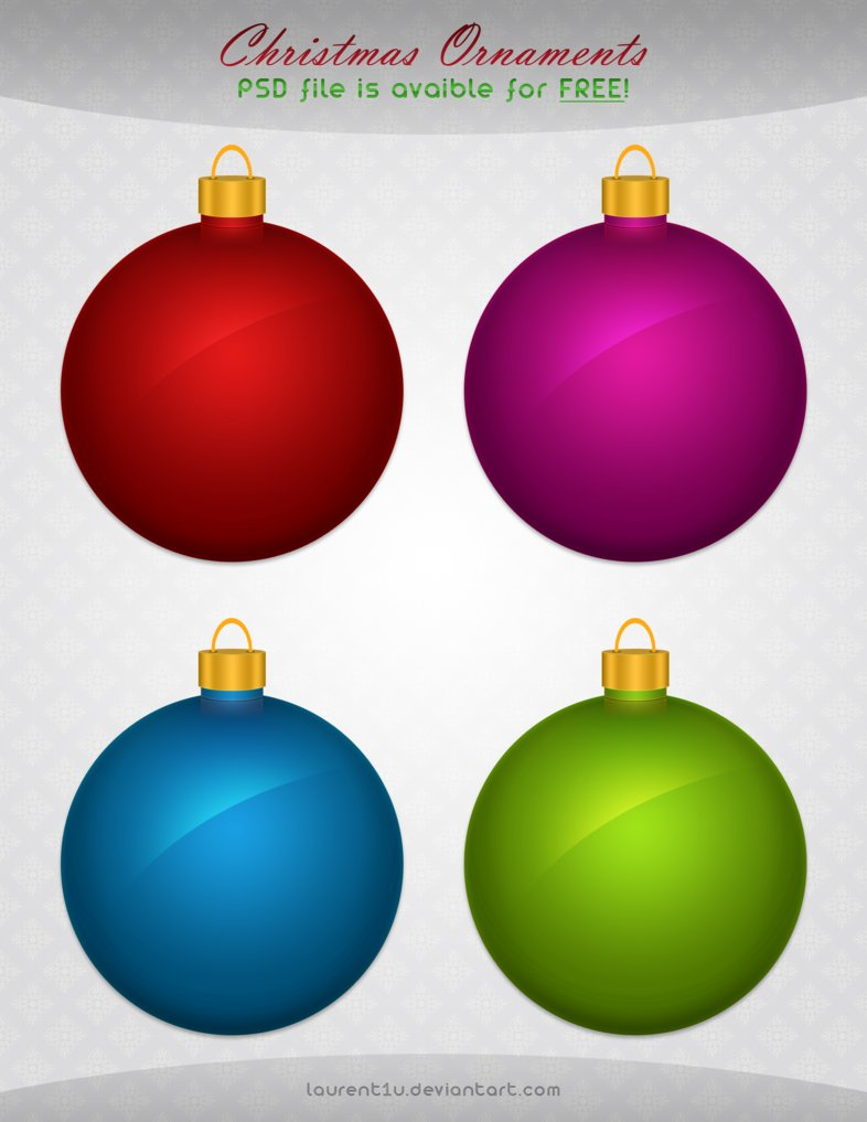 Christmas Ornaments (FREE PSD)