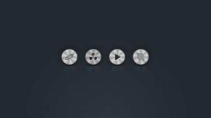 Circle Metal Icons