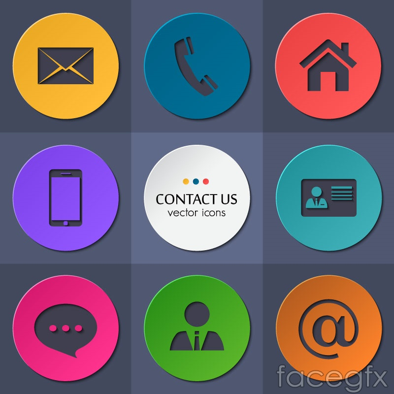 Circular contacts icon vector – Over millions vectors ...