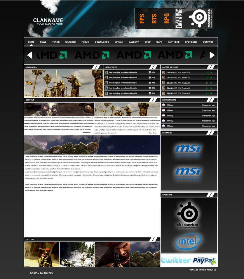 Clanname 5 webdesign