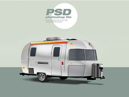 Classic trailer Free PSD File