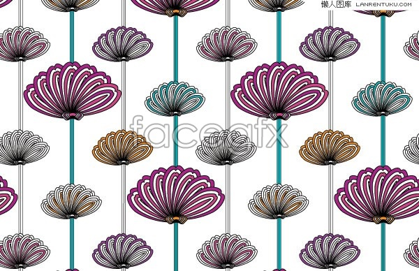Classical abstract floral background vector