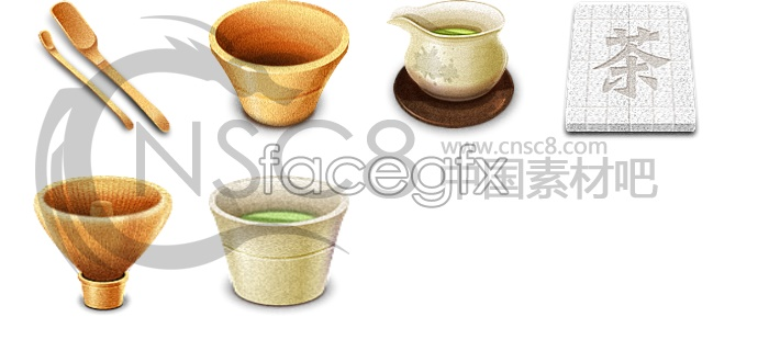 Classical Chinese tea ceremony icons