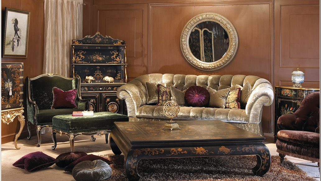 Classical combination of luxury furniture 3d model Over millions