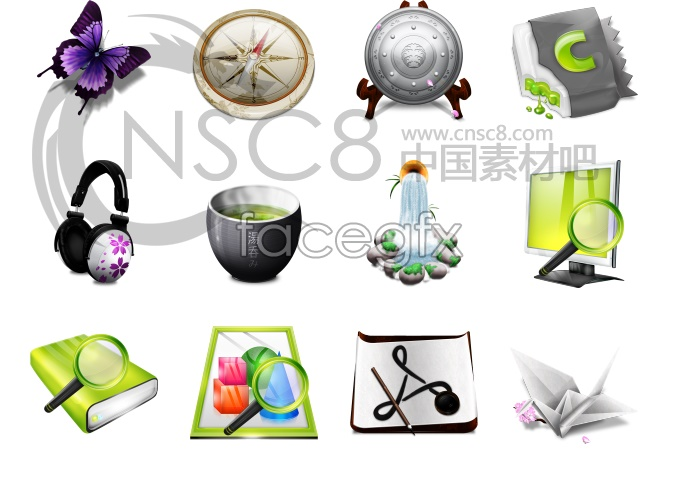 Classical wind desktop icons