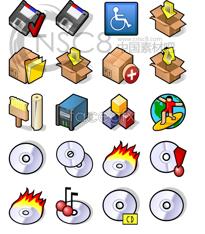 Clear system replacement icons