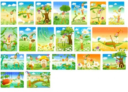 clown and the landscape vector series